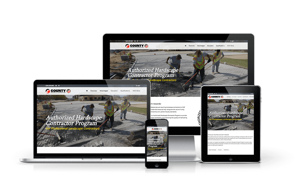 County Materials Authorized Hardscape Contractor Program Landing Page