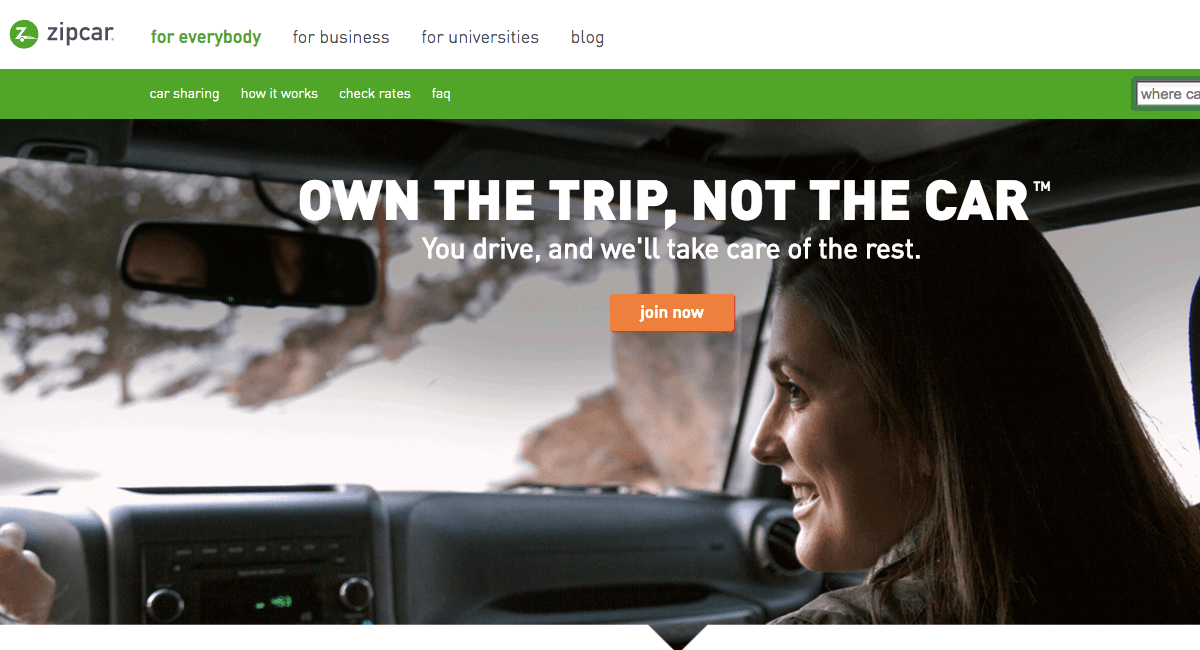 Zipcar Value Proposition
